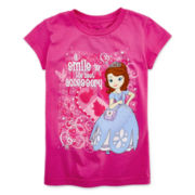 Disney Collection Sofia Short-Sleeve Graphic Tee - Girls 2-12