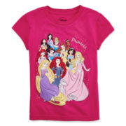 Disney Collection Multiple Princess Short-Sleeve Graphic Tee – Girls 2-12