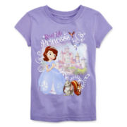 Disney Collection Sofia Short-Sleeve Graphic Tee – Girls 2-12