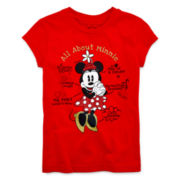 Disney Collection Minnie Mouse Short-Sleeve Graphic Tee – Girls 2-12