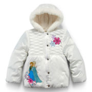Disney Frozen Hooded Puffer Jacket – Girls 2-10