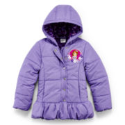 Disney Sofia Hooded Puffer Jacket – Girls 2-10