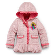 Disney Collection Multiple Princess Hooded Puffer Jacket – Girls 2-10