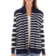 a.n.a® Long-Sleeve Striped Open Cardigan