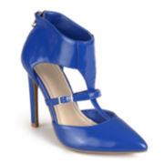 Journee Collection Step Up T-Strap Pumps