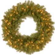 """National Tree Company® 30"""" Norwood Fir Pre-Lit Wreath"""