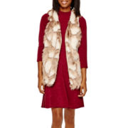 Decree® Faux-Fur Vest or Skater Dress