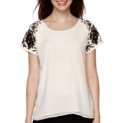 Decree® Short-Sleeve Sequin T-Shirt