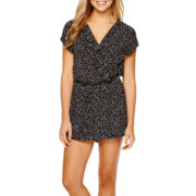 Decree® Sleeveless Pintuck Romper