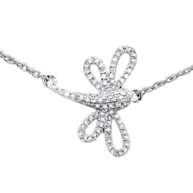 jcpenney.com | LIMITED QUANTITIES 1/7 CT. T.W. Diamond Dragonfly Necklace