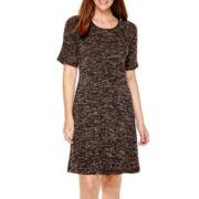 Tiana B. Short-Sleeve Knit Trapeze Dress - Tall