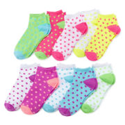 Total Girl® 10-pk. Polka Dot Low-Cut Socks - Girls 7-16