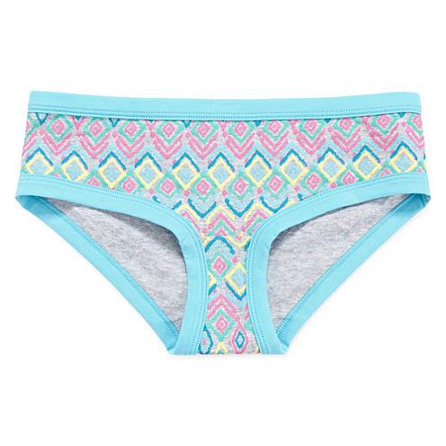 Total Girl® Print Hipster Panties - Girls 4-16