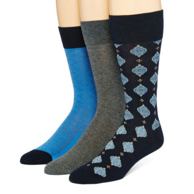 jcpenney.com | Stafford® Mens 3-pk. Cotton-Rich Crew Socks
