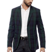 WD-NY® Blackwatch Plaid Shawl Collar Tuxedo Jacket - Slim Fit