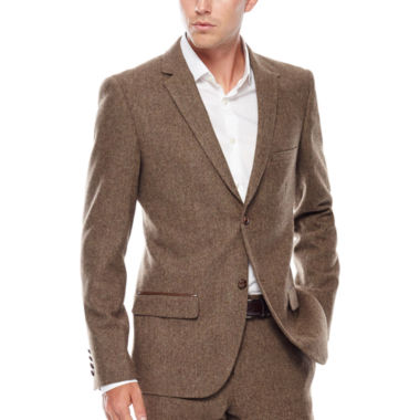 jcpenney.com | WD.NY Brown Twill Suit Jacket - Slim Fit