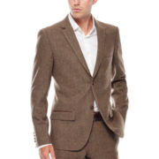 WD.NY Brown Twill Suit Jacket - Slim Fit