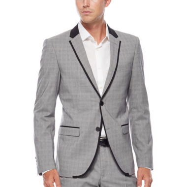 jcpenney.com | WD.NY Gray Plaid Suit Jacket - Slim Fit