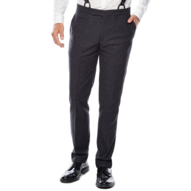 jcpenney.com | WD.NY Charcoal Twill Flat-Front Suit Pants - Slim Fit
