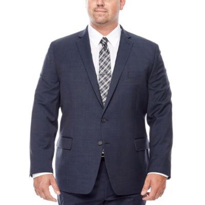Claiborne® Blue Neat Suit Jacket - Big & Tall