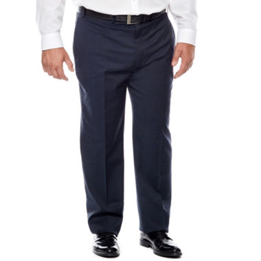 jcpenney.com | Claiborne® Blue Neat Flat-Front Suit Pants - Big & Tall