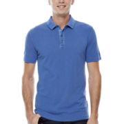 JF J. Ferrar® Garment-Dyed Piqué Polo