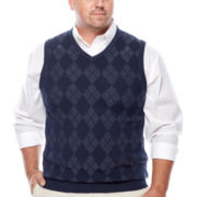 IZOD® Argyle Sweater Vest - Big & Tall