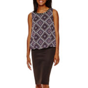 by&by High-Low Neck-Trim Top or Pencil Skirt