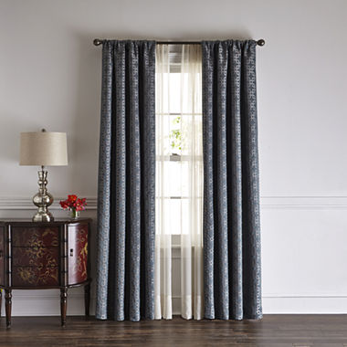 Liz Claiborne® Henri Blackout Rod-Pocket/Back-Tab Curtain Panel ...