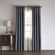 Liz Claiborne® Henri Blackout Rod-Pocket/Back-Tab Curtain Panel