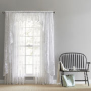 JCPenney Home™ Shari Lace Rod-Pocket Sheer Window Treatments