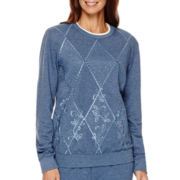 Alfred Dunner® Forever and Always Long-Sleeve Embroidered Top