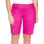 St. John's Bay® Bermuda Shorts - Plus