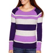St. John's Bay® Long-Sleeve Sweater - Petite