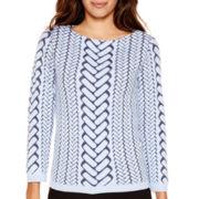 Worthington® 3/4-Sleeve Textured Pullover Sweater
