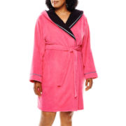 Sleep Chic Hooded Robe - Plus