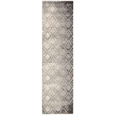 Kathy Ireland® Royal Shimmer Wool Shag Runner Rug