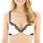 Ambrielle® Sheer Striped Bra