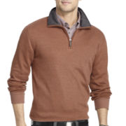 Van Heusen® Long-Sleeve Quarter-Zip Pullover