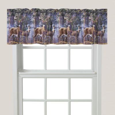 Laural Home Deer Time Rod-Pocket Tailored Valance