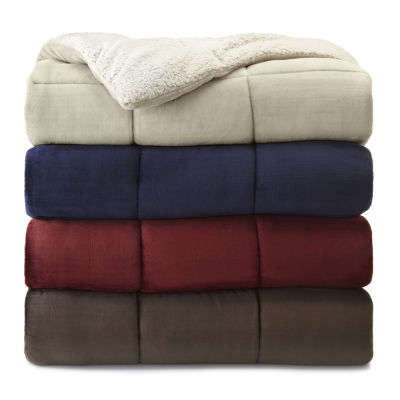 JCPenney Home™ Faux Ultra Mink Fur and Sherpa Comforter JCPenney