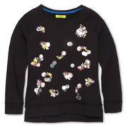 Dreampop® by Cynthia Rowley Sequin Sweatshirt - Girls 6-16