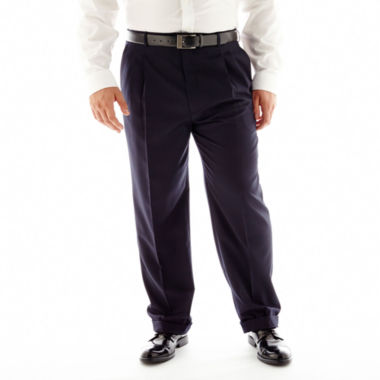 jcpenney.com | Stafford® Travel Pleated Suit Pants–Big & Tall