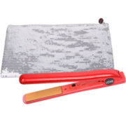 iCHI® Shimmering Scarlet Flat Iron + Sequin Thermal Bag