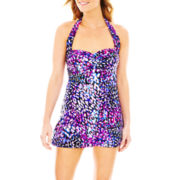 Jamaica Bay® Here Kitty Glam Halter 1-Piece Swimdress