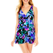 Jamaica Bay® Xanadu Ruffled Tiered 1-Piece Swimdress