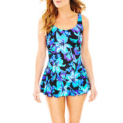 Azul by Maxine of Hollywood Princess Seam 1-Piece Swimdress