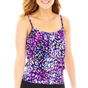 Jamaica Bay® Triple Tiered Tankini Swim Top