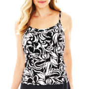 Jamaica Bay® Tiered Tankini Swim Top