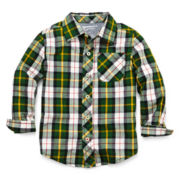 Arizona Long-Sleeve Button-Front Shirt - Boys 2t-6